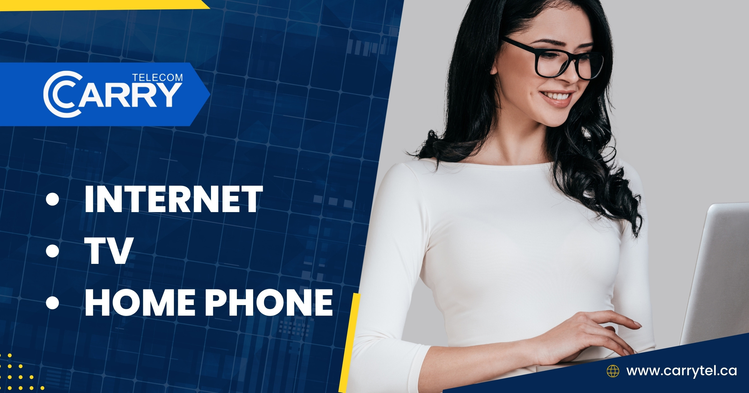 New to Carrytel Customer only- Cable Internet 150 for $34.99